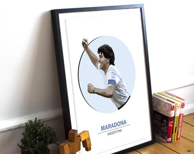 Maradona Art Poster Print / Football & Soccer legend / Argentina / Barcelona / Sport / Football Poster / Argentina Football Print Poster
