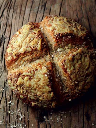 Irish Farmhouse Cheese and Oat Soda Bread