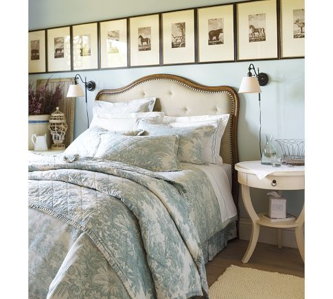 Matine Toile Quilt & Sham | Pottery Barn