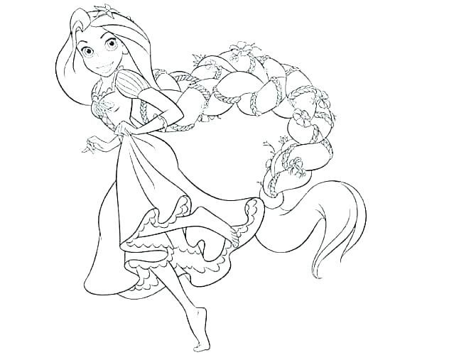 Collection Of Rapunzel In 2020 Rapunzel Coloring Pages Princess