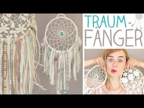 DIY 2 Traumfänger Ideen ganz einfach, Dreamcatcher weben, Spitze - alive4fashion - YouTube