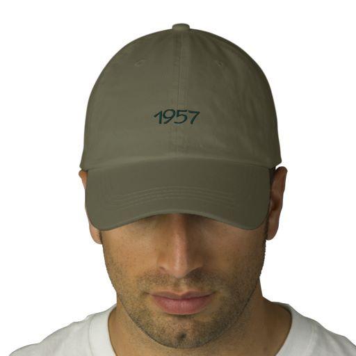 1957 Embroidered Hat #savethedate