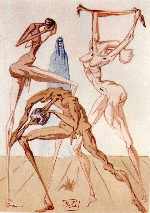 Sodomites, Salvador Dali.