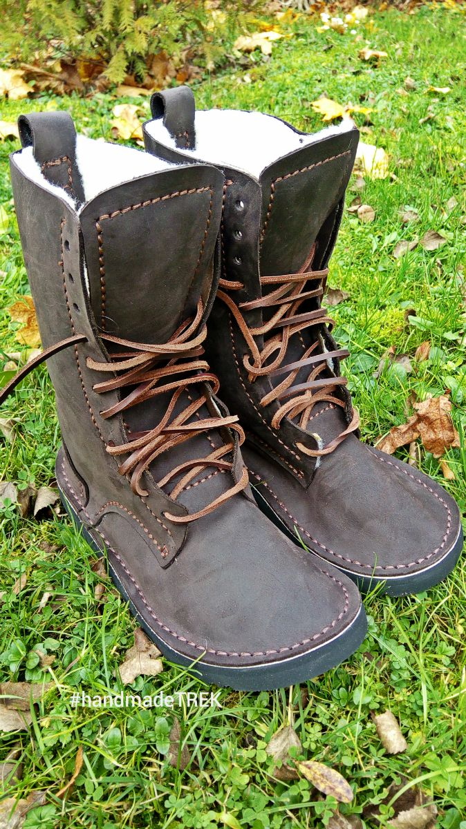 Handmadeleather natural shoes TREK Cocokney Winter