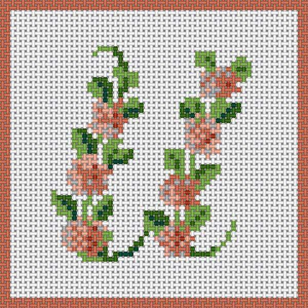 Floral Alphabet - U