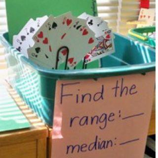 : Center Ideas, Fifth Grade Math, Schools Math, Math Center, Math Ideas, Math Stations, 5Th Grade, Playing Cards, Plays Cards