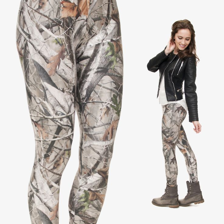 Mix City Camo Trees 3d Printing Leggings for Women Brand Fashion Leggins Stretchy Casual Fitness  Leggings Adventure Time [Affiliate]