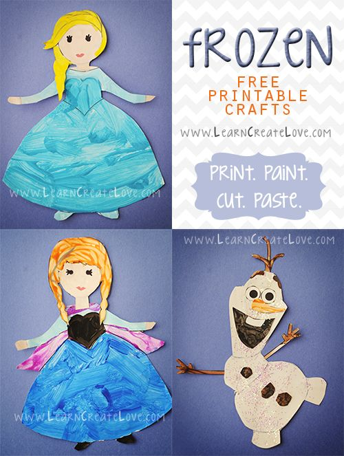 Printable Frozen Crafts | LearnCreateLove.com