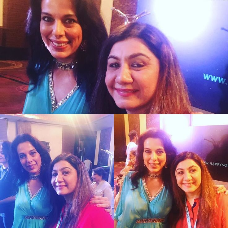 AnuMehta attending meditation conducted by Pooja Bedi