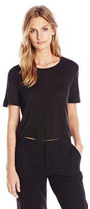 Haute Hippie Women's Short-Sleeve Cropped T-Shirt - Shop for women's T-shirt - Black T-shirt