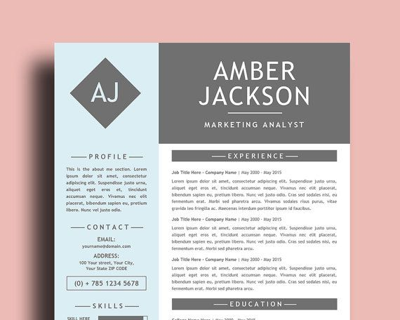 Resume templates 40 pinterest resume template for word free cover letter easy to edit download now yelopaper