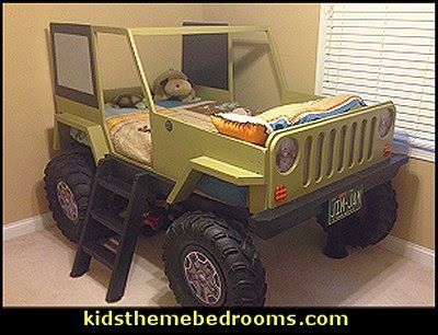 Jeep Bed Wood Working Plans - DIY Kids Bed