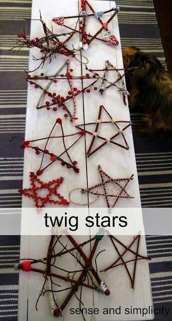 Rustic twig stars!