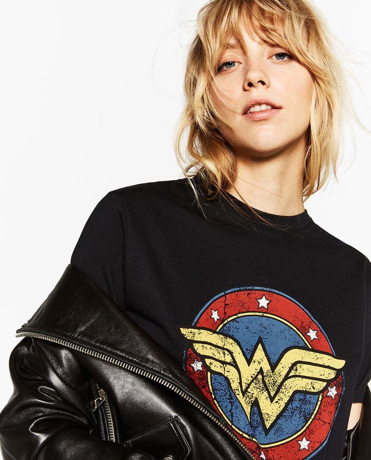 Image 2 of WONDER WOMAN T-SHIRT from Zara