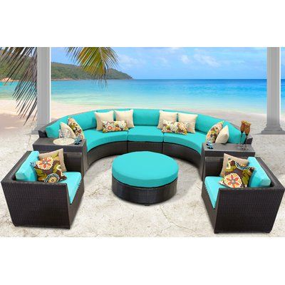 Best Sol 72 Outdoor Tegan 8 Piece Sectional Seating Group With 400 x 300