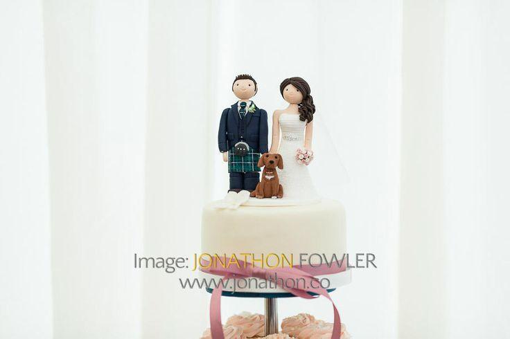 Glencorse House wedding photos - Lauren and Wayne - wedding cake topper