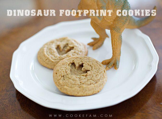 Dinosaur Footprint Cookies  http://www.cookefam.com/2013/06/dinosaur-footprint-cookies.html
