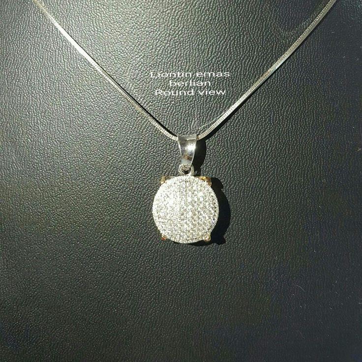 New Arrival🗼. Liontin Emas Berlian Round View💍💎.   🏪Toko Perhiasan Emas Berlian-Ammad 📲+6282113309088/5C50359F Cp.Antrika👩.  https://m.facebook.com/home.php #investasi #diomond #gold #beauty #fashion #elegant #musthave #tokoperhiasanemasberlian