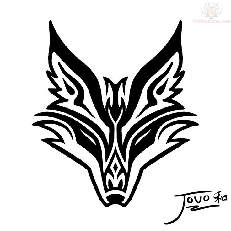 jovo-tribal-fox-tattoo-design.jpg (800×800)