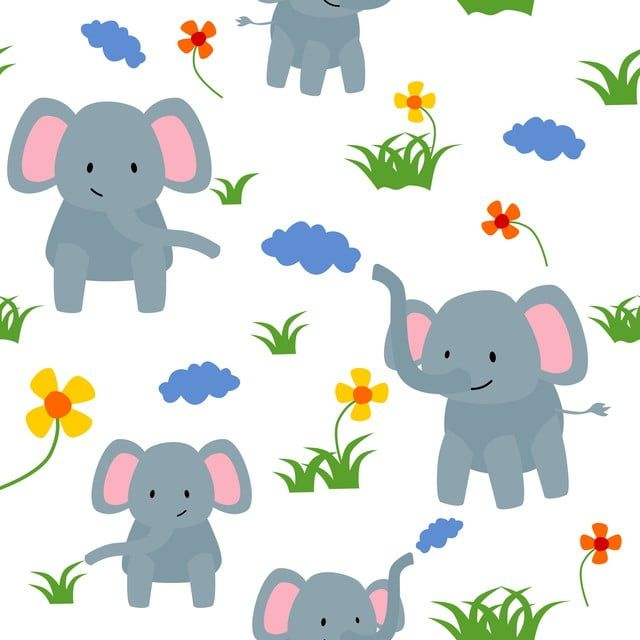 Seamless Pattern Cute Elephant Eat Grass And Flower Creative Childish Texture For Fabric Textile Fashion Shower Cute Character Png And Vector With Transpare In 2020 Cute Elephant Seamless Patterns Background Patterns Elephant illustration, african bush elephant asian elephant african forest elephant, elephant. pinterest