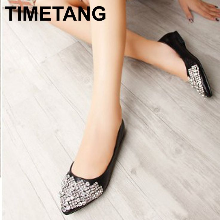 Large size 34-41 2015 Spring&autumn Women's pointed shoes flats diamond beaded flats low heels women's causal shoes B-203