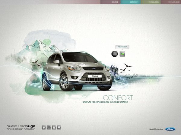 Ford Kuga Concept by Guillermo Vaccarezza, via Behance