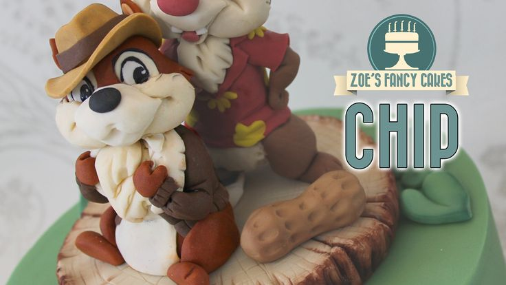 How to make Chip as a cake topper from the Chip and Dale Rescue Rangers. I used…