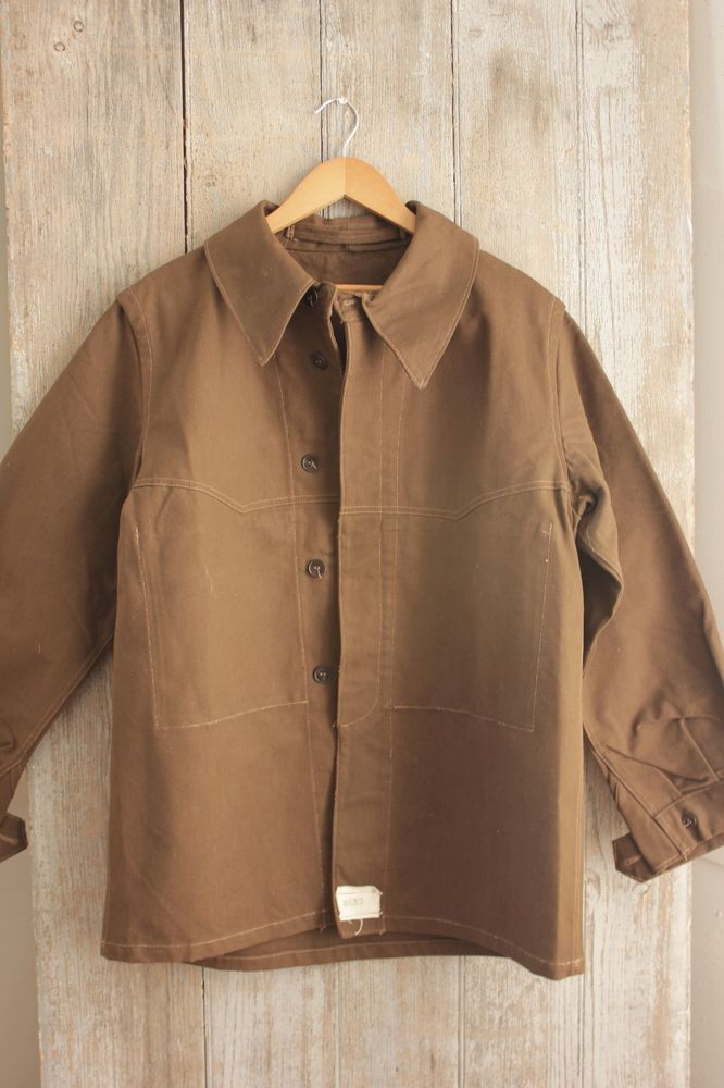 Details About Vintage Canvas Coat Jacket French Military