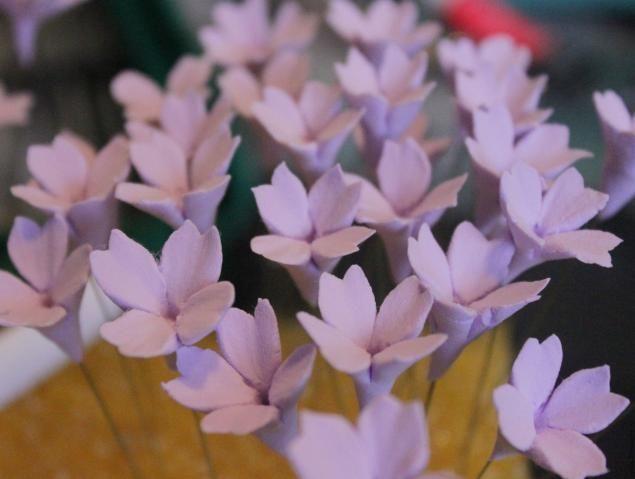 Лепим цветы-наполнители для букетов. - Ярмарка Мастеров - ручная работа, handmade  Blumen aus Fimo