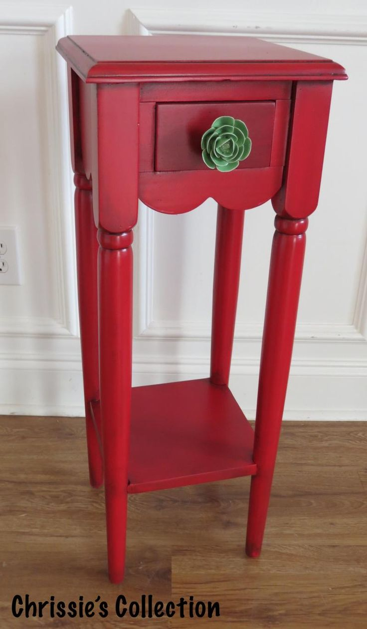 Wonderful Chrissieu0027s Collection   Custom Painted Red And Green Rose Furniture