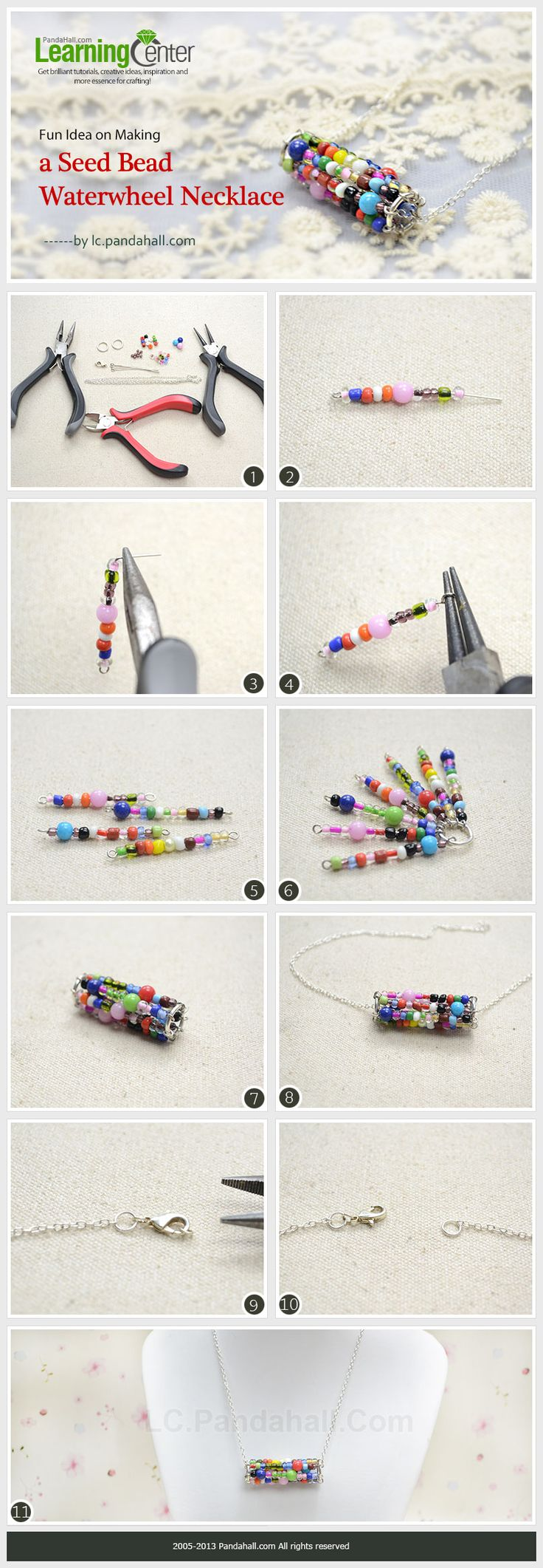 Fun Idea on Making a Seed Bead Waterwheel Necklace
