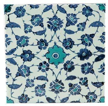Name: Tile Iznik (12029E)  Material: Single pc tile  Description:     Single pc tile, replica of underglazed painted fritware Iznik tile, Iznik, Turkey 16th Century AD  Size: 20cm x 20cm x 0.5cm  Price: RM18.00