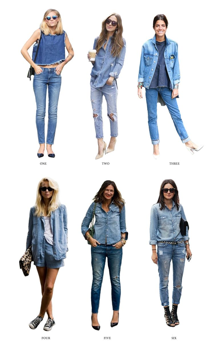 6 Different Ways to Wear Denim on Denim #denimondenim #womensfashion #womensdenim