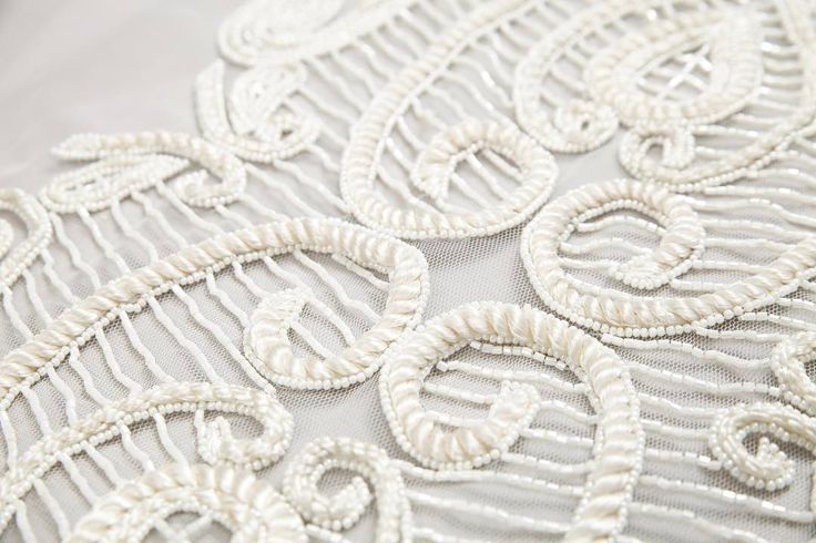 White detailing ✨ our custom made fabrics can be ordered at laceandembroidery@outlook.com laceandembroidery#weddingplanning #weddingtips #vogue #designer #weddingdressdesigner #bridal #bridalcouture #bridalfashion #bridaldesigner #weddingphoto
