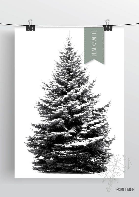 Our black and white christmastree / pinetree poster! We are so in love with this one!