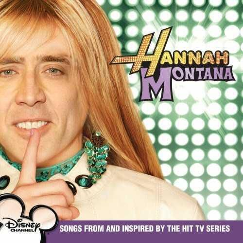 nicolas cage as hannah montana, for some reason this makes me laugh