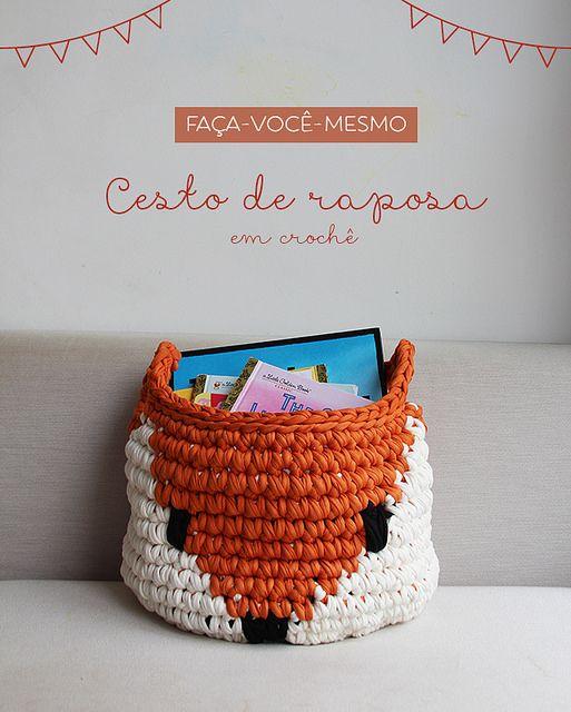 FAÇA-VOCÊ-MESMO: CESTO MULTIUSO DE RAPOSA, Superziper |  Grátis, português / Free pattern, portuguese (scheduled via http://www.tailwindapp.com?utm_source=pinterest&utm_medium=twpin&utm_content=post111784575&utm_campaign=scheduler_attribution)