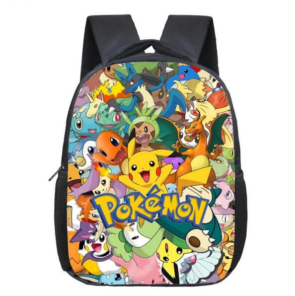 Anime Pokemon Backpack Pocket Monster School Bag Ash Ketchum/Pikachu School Backpacks Girls Boys Daily Bag Kids Book Bags
