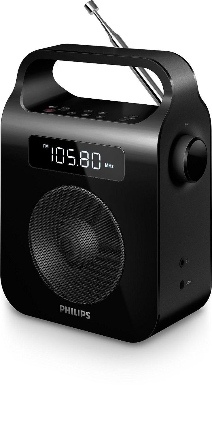 Philips AE2600B/12 - Radio portátil (Sintonizador digital FM/WM), negro - Electrónica - Amazon.es