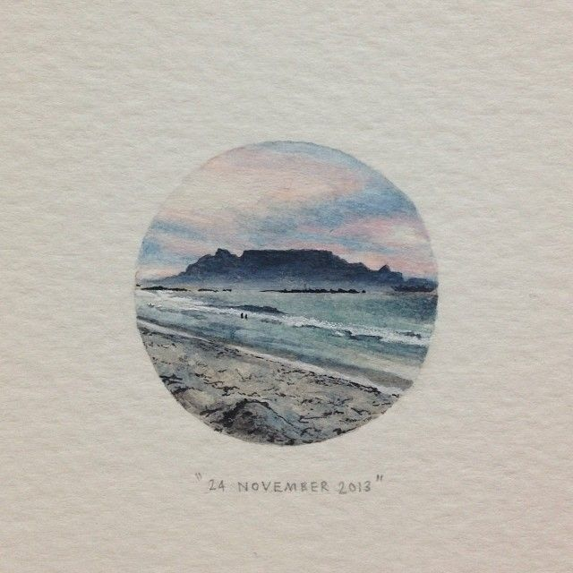 Day 327 : Table Mountain, for @livyfox and Mark. 6 years today ♥. 29 x 29 mm…