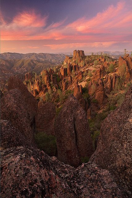 Pinnacles National Monument, CA -  USA's 59th National Park as of 1/10/13. Huge boulders create an underground cave hike-it filled me with wonder as a young girl of 9.