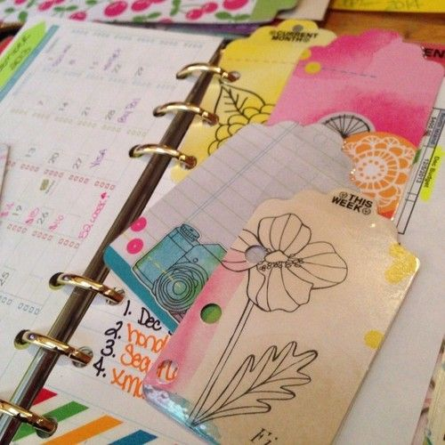Just made these AWESOME!!! Little page markers! #filofax  #DIY