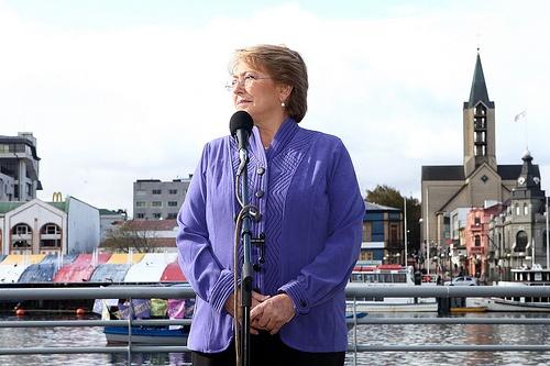 Michelle Bachelet en campaña, visita Valdivia