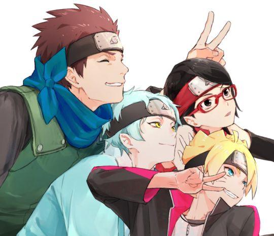 Team Konohamaru: Konohamaru, Mitsuki, Sarada, Boruto