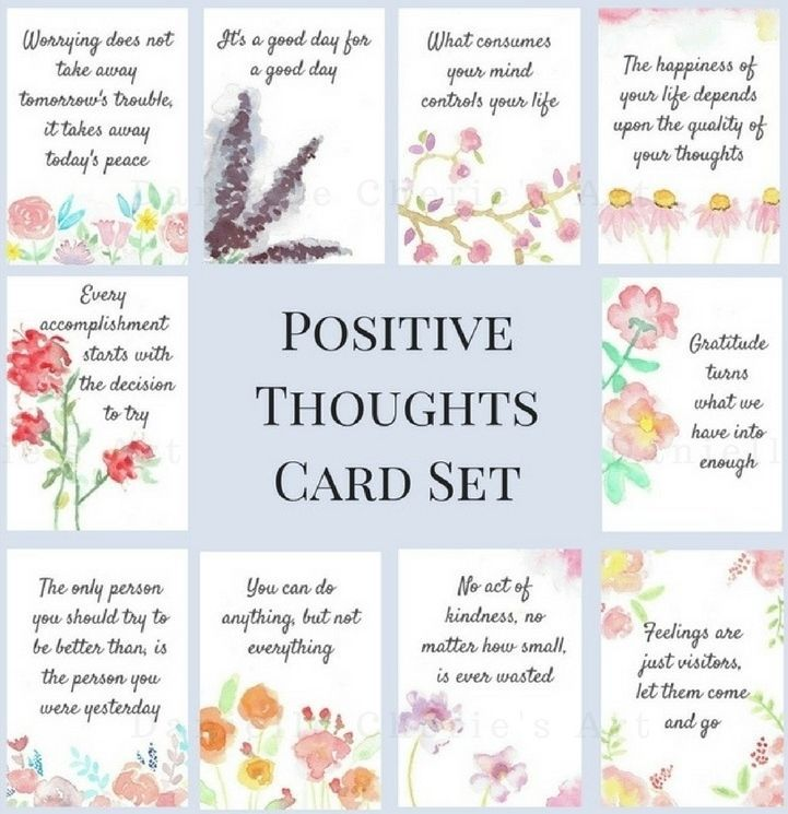 20 Positive Thoughts Cards Affirmation Card Deck Tarot Positivity Spiritual Affirmation Cards Affirmations Positivity