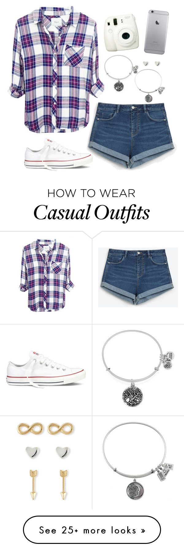 """Casual Outfit"" by twaayy on Polyvore featuring Zara, Converse, Fuji, Alex and Ani and Jules Smith"