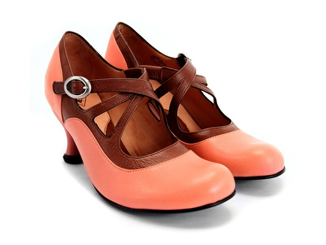 i love these peachy ones, even if i'm unsure if i would consider then actually wearable. yes to the olive & taupe version, love those too. fluevog: pearl hart $259