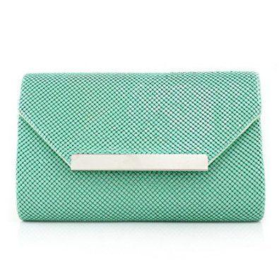 Your Gallery Women's Elegant Formal Aluminum Sequin Envelope Clutch Handbag