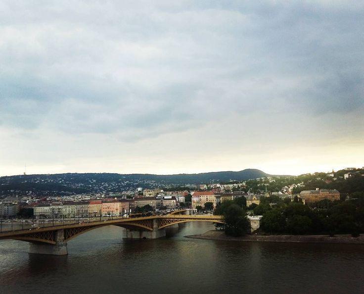 Beautiful. #budapest #duna #margitsziget #beautiful #landscape #clouds #today #panorama @kicsidudu 's lovely new home 😊