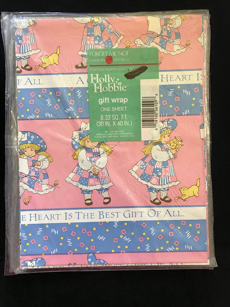 99 best greeting cards stationery gift wrap images on pinterest vintage 1989 american greetings forget me not holly hobbie the heart is the best gift of all gift wrap m4hsunfo
